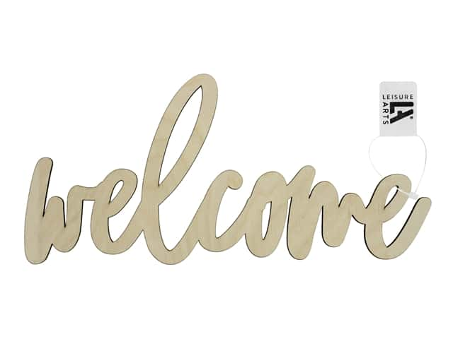 Leisure Arts Wood Word - Large Welcome