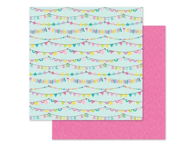 """Simple Stories Magical Birthday Paper 12""""x 12"""" Party Time"""
