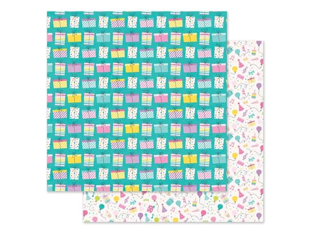 """Simple Stories Magical Birthday Paper 12""""x 12"""" Surprise!"""