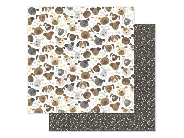 """Bella Blvd Collection Cooper Paper 12""""x 12"""" Puppers"""