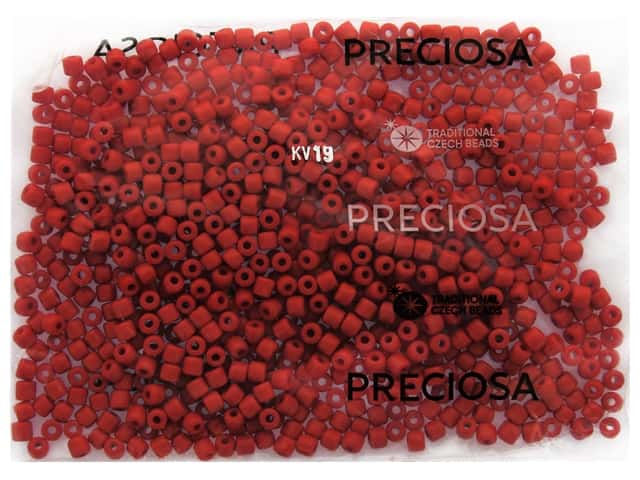 John Bead Czech Rola Bead 4.5 mm Opaque Red