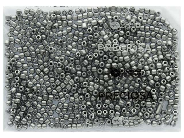 John Bead Czech Rola Bead 4.5 mm Opaque Metallic Silver