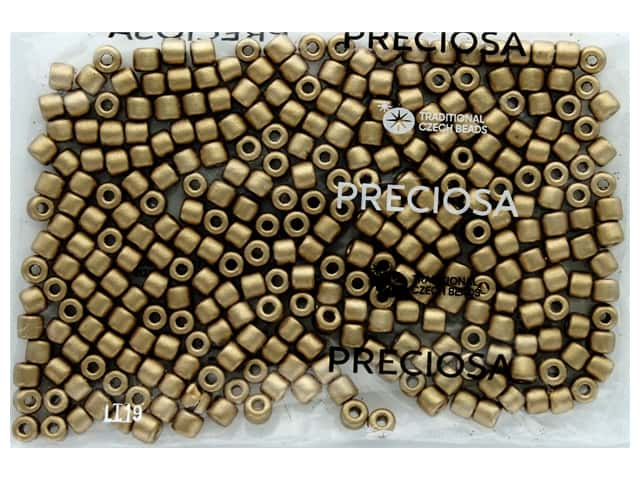 John Bead Czech Rola Bead 6.2 mm Opaque Metallic Gold