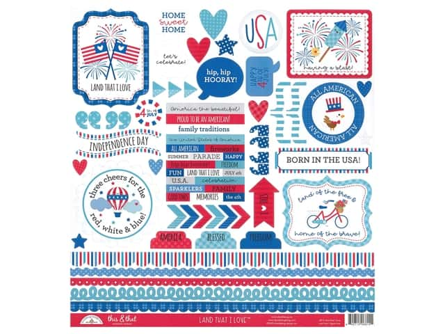Doodlebug This & That Stickers - Land That I Love