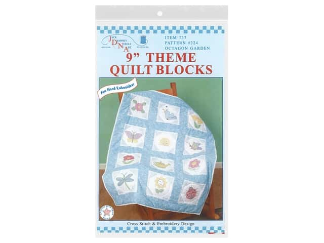 "Jack Dempsey 9"" Theme Quilt Blocks Octagon Garden 12pc"