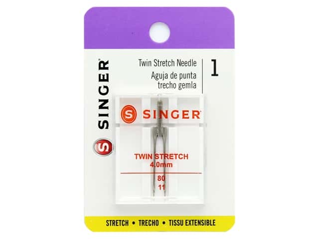 Singer Machine Needle Twin Stretch 4mm Size 80/11