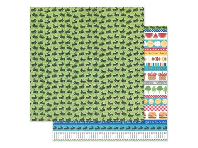 "Doodlebug Collection Bar-B Cute Paper 12""x 12"" Picnic Parade"