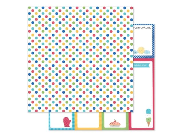 "Doodlebug Collection Bar-B Cute Paper 12""x 12"" Picnic Spot"