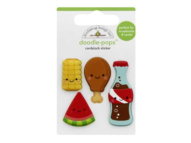 Doodlebug Collection Bar-B Cute Doodle Pops Foodie Friends