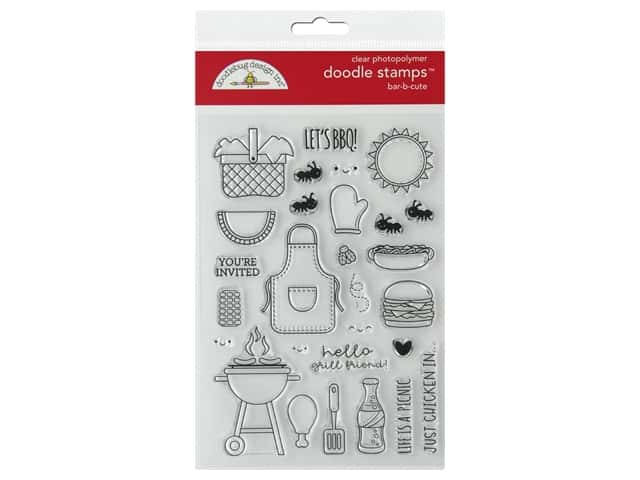 Doodlebug Collection Bar-B Cute Doodle Stamps