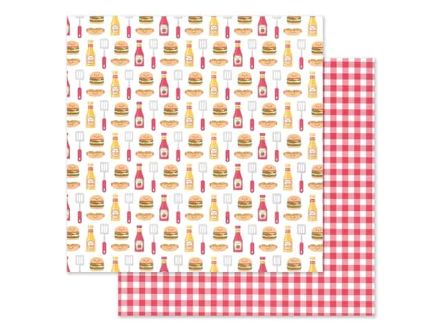 "Doodlebug Collection Bar-B Cute Paper 12""x 12"" Picnic Plaid"