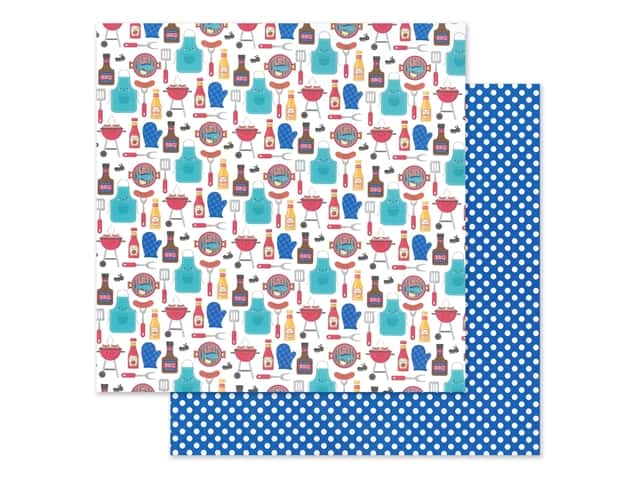 "Doodlebug Collection Bar-B Cute Paper 12""x 12"" Picnic In The Park"