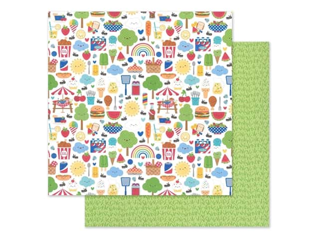 "Doodlebug Collection Bar-B Cute Paper 12""x 12"""