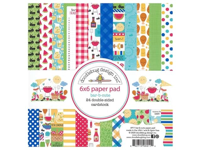 "Doodlebug Collection Bar-B Cute Paper Pad 6""x 6"""