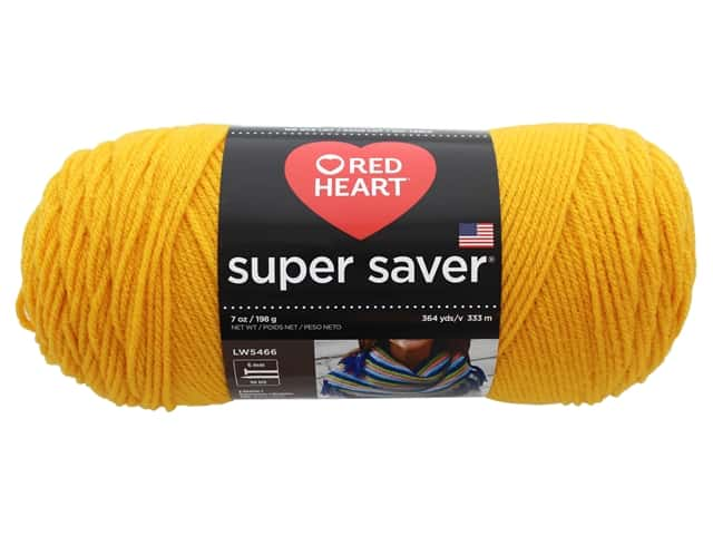 Coats & Clark Red Heart Super Saver Yarn 4ply 7oz Saffron