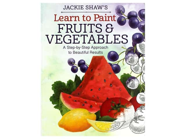 Design Originals Learn To Paint Fruits & Vegetables Book