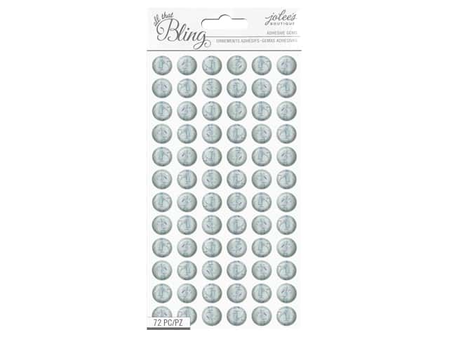 EK Jolee's Boutique All That Bling Gems Confetti Circle Clear