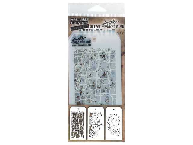 Stampers Anonymous Layering Stencil Tim Holtz Mini #43