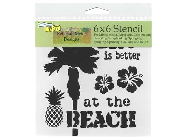 "The Crafter's Workshop Stencil 6""x 6"" Rebekah Meier Designs At The Beach"
