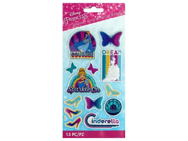 EK Disney Sticker 3D Sparkle Princess Cinderella