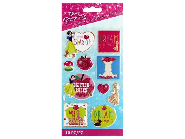 EK Disney Sticker 3D Glitter Princess Snow White