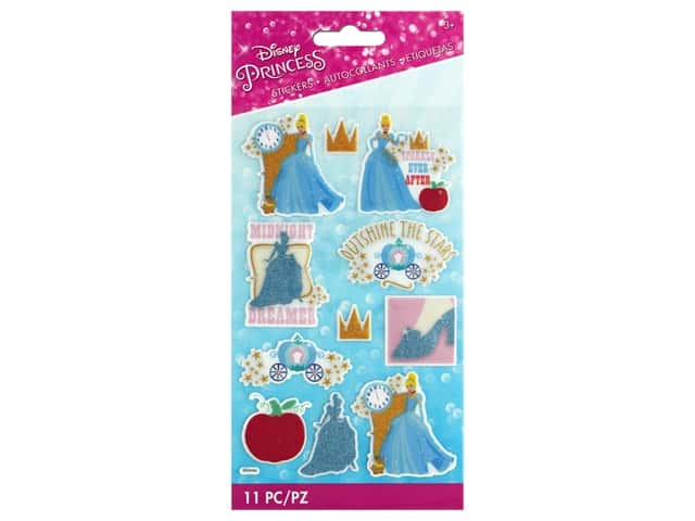 EK Disney Sticker 3D Glitter Princess Cinderella