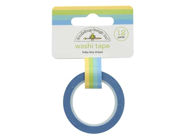Doodlebug Collection Special Delivery Washi Tape Baby Boy Stripe