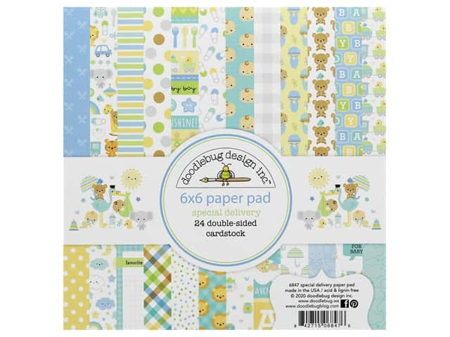 "Doodlebug Collection Special Delivery Paper Pad 6""x 6"""