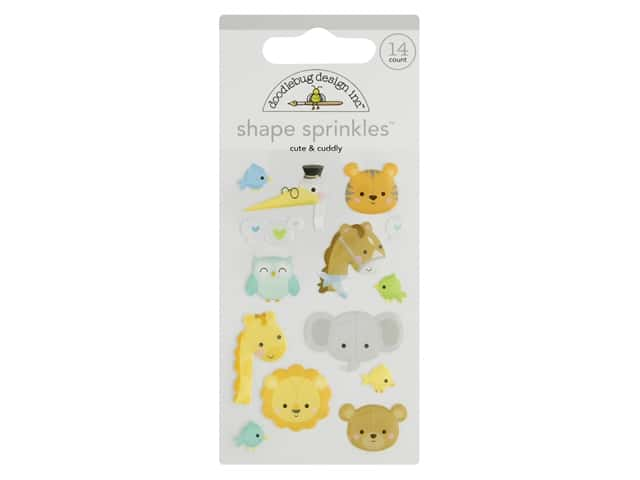 Doodlebug Collection Special Delivery Sprinkles Shape Cute & Cuddly