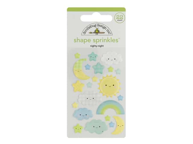 Doodlebug Collection Special Delivery Sprinkles Shape Nightly Night