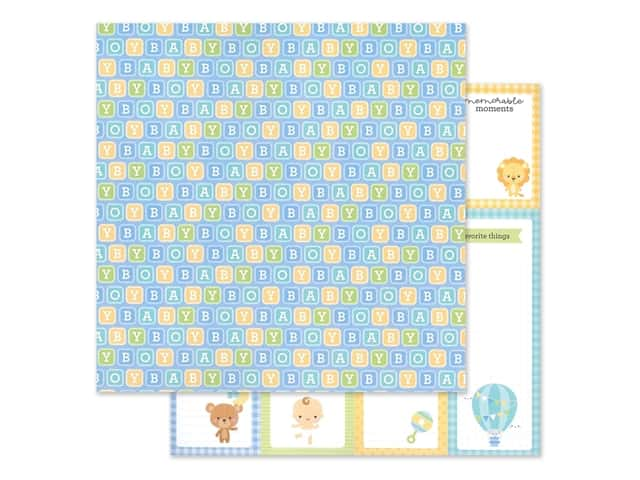 "Doodlebug Collection Special Delivery Paper 12""x 12"" Baby Blocks"