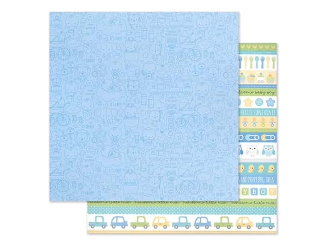 "Doodlebug Collection Special Delivery Paper 12""x 12"" It's A Boy!"