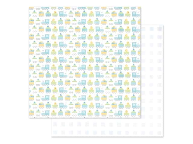 "Doodlebug Collection Special Delivery Paper 12""x 12"" Choo Choo"