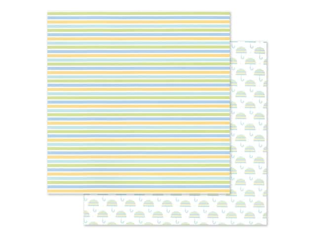 "Doodlebug Collection Special Delivery Paper 12""x 12"" Nursery Stripes"