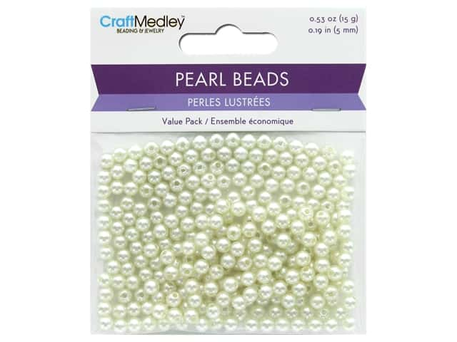 Multicraft Bead Pearl 5mm Ivory 265 pc.