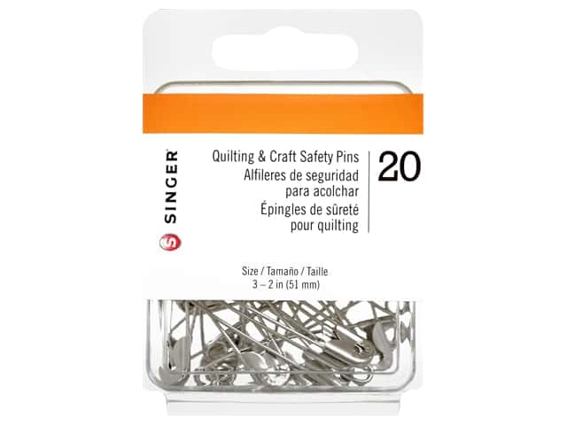 Singer Quilting & Craft Safety Pins 2 in. 20 pc.