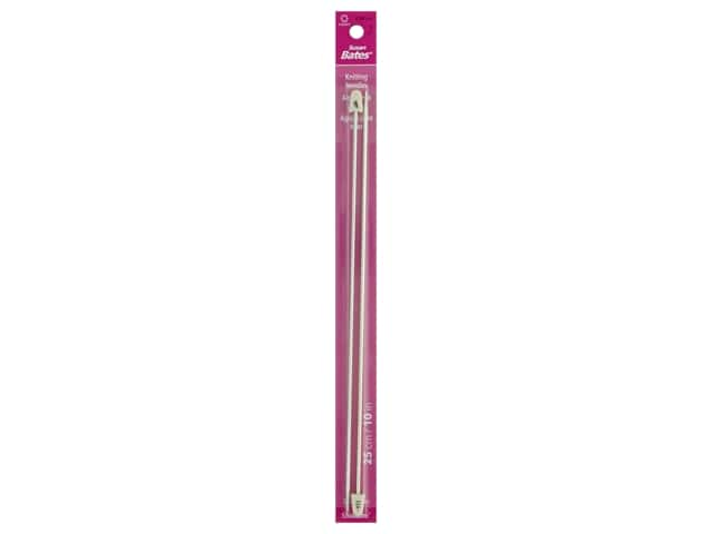 Susan Bates Silvalume Single Point Knitting Needles 10 in. Size 1 (2.25 mm)