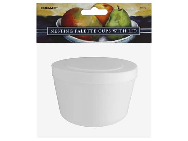 Pro Art Palette Plastic Cups With Lid 3 pc Nesting