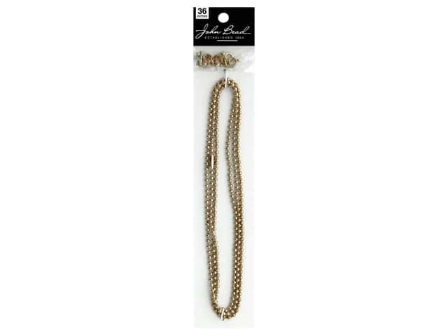 John Bead Chain & Finding Set 3mm Ball Gold
