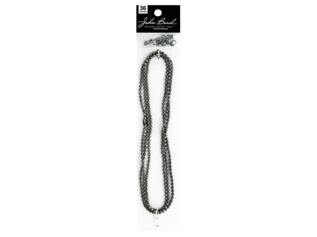 John Bead Chain & Findings Set 3mm Ball Gunmetal