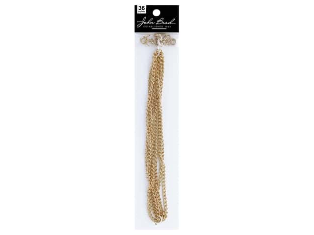 John Bead Chain & Finding Set 3mm x 4mm Curb Gold