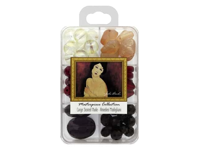 John Bead Glass Bead Masterpiece Collection Box Mix Large Seated Nude