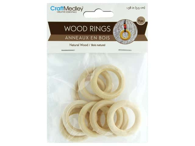 Multicraft Wood Craft Ring 35mm 9pc