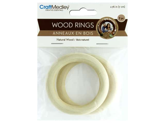 Multicraft Wood Craft Ring 70mm 2pc