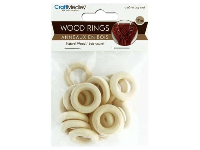 Multicraft Wood Craft Ring 25mm 17pc