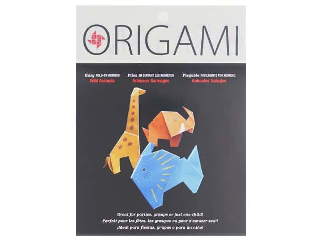 Yasutomo Fold Ems Origami Paper 5 7/8 in. 12 pc. By Number Wild Animal