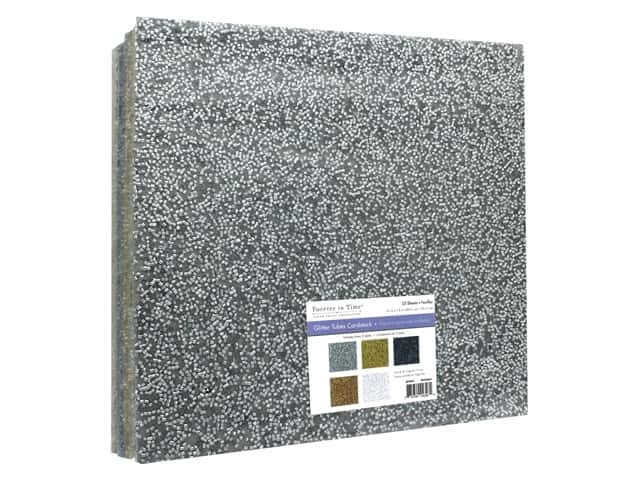 """Multicraft Forever In Time Paper 12""""x 12"""" Glitter Tube Assorted Metallique"""