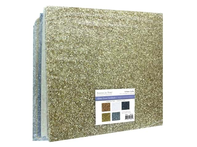 """Multicraft Forever In Time Paper 12""""x 12"""" Glitter Grass Assorted Metallique"""