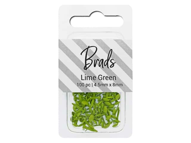 PA Essentials Brads 4.5 x 8 mm 100 pc. Solid Lime Green