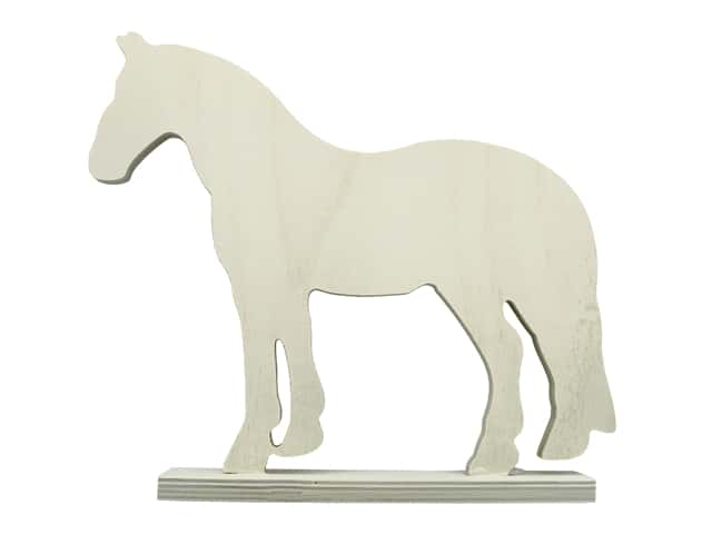 """Sierra Pacific Crafts Wood Horse Plywood 11""""x 1.5""""x 9.5"""" Unfinished"""
